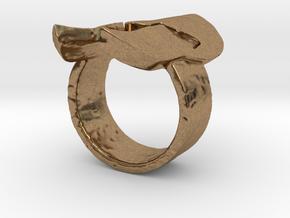 Spartan Helmet Ring in Natural Brass