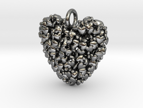 365 Hearts Pendant in Polished Silver