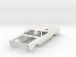 1968 Plymouth GTX for model kit in White Natural Versatile Plastic