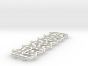 O9 Skip bogie chassis in White Natural Versatile Plastic