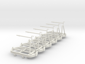 O9 Skip bogie chassis with brakes in White Natural Versatile Plastic