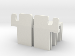 MR03 Side Clips in White Strong & Flexible