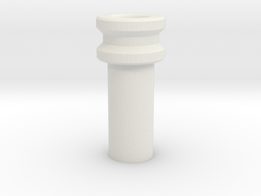 2 1mm Kill Key 12mm tube in White Natural Versatile Plastic