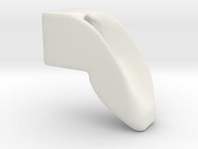 three quarter scale smooth dogleg in White Natural Versatile Plastic