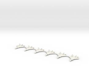 1/700 Scale F-22 Raptor in White Natural Versatile Plastic