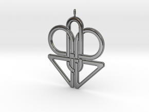 Knotted Pendant in Polished Silver