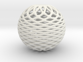 sphere1 fixed in White Natural Versatile Plastic