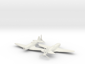 1/200 MiG-3 Soviet WW2 Fighter in White Natural Versatile Plastic