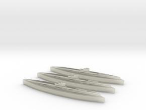U-117 (Type XB U-boat)  (1:1800) x3 in Transparent Acrylic