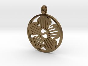Immortal Flower Pendant in Natural Bronze