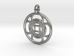 Kallichore pendant in Natural Silver