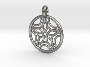 Sponde pendant in Natural Silver