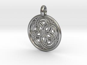 Carpo pendant in Natural Silver