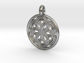 Thyone pendant in Natural Silver