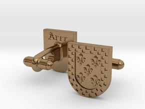 Heraldic Cufflinks (Arce) in Natural Brass