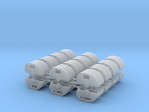 24 Z Scale trailers in Smooth Fine Detail Plastic