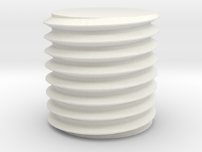 Bolt/Machine screw threads - Openscad ISO-standard in White Natural Versatile Plastic