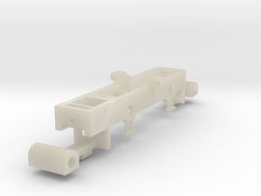 4mm scale GNRi JT class 2-4-2 tank Chassis in White Acrylic