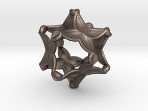 Artefact 4D in Polished Bronzed Silver Steel