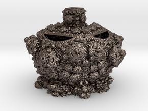 Fractal Urn in Polished Bronzed Silver Steel