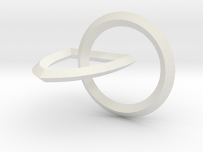 Interlocking Seals — Small in White Natural Versatile Plastic
