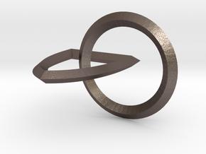 Interlocking Seals — Small in Polished Bronzed Silver Steel