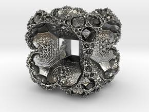 Hyper Fractal Flake in Polished Silver
