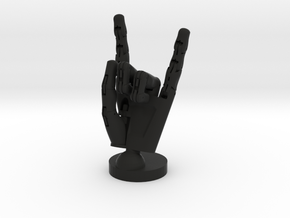 Cyborg hand posed rock in Black Strong & Flexible