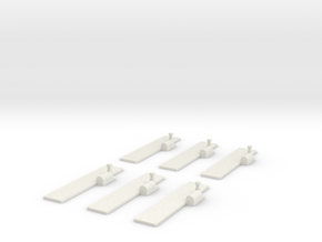 Airfields (all straight) x6 in White Strong & Flexible