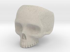 Skullring Size 8 in Natural Sandstone