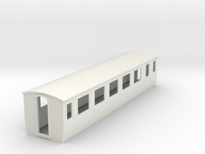 OO9 modern 1st class coach in White Natural Versatile Plastic