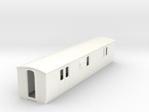 OO9 modern  brake luggage van in White Processed Versatile Plastic