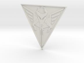 "Mandalorian Logo - Manda'galaar (2 3/4"") in White Strong & Flexible"