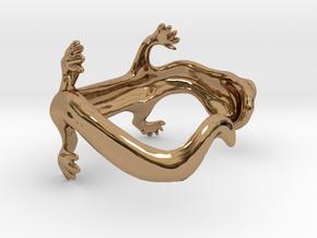 lizard bracelet in Polished Brass