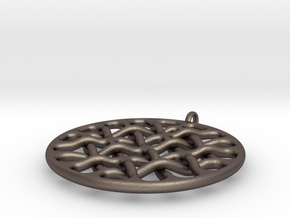 Woven 16 D2xZ in Polished Bronzed Silver Steel