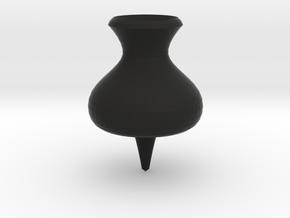 Thumbtack dreidel in Black Strong & Flexible