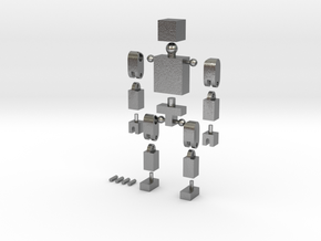 BlockGuy in Natural Silver