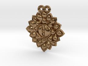 Dragon eye pendant in Natural Brass