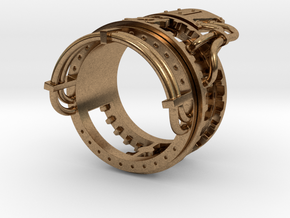 Steampower Ring V3 in Natural Brass