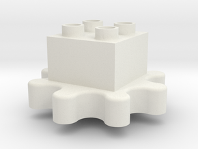 Gears! Gears! Gears! to Duplo uck 02f00m in White Strong & Flexible