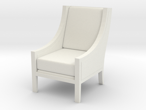 1:24 Scoop Chair in White Natural Versatile Plastic