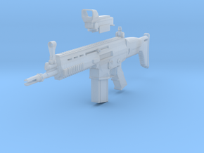 SCAR rifle in Smooth Fine Detail Plastic