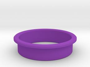 Pinball Start Button Dress Ring - Small Lip in Purple Processed Versatile Plastic