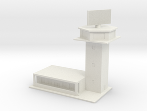 1/700 Control Tower And RADAR in White Natural Versatile Plastic