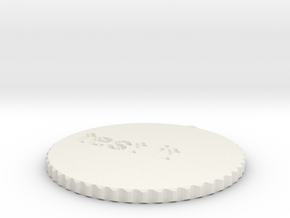 by kelecrea, engraved: test it in White Natural Versatile Plastic
