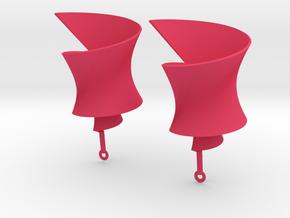 Helix earring in Pink Processed Versatile Plastic