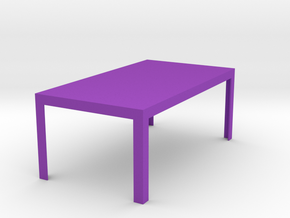 Otto Modern Dining Table 1:12 scale in Purple Processed Versatile Plastic