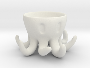 Octopus Egg Holder in White Strong & Flexible