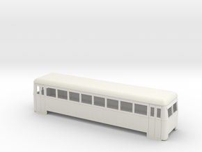 009 cheap and easy long bogie railbus  in White Natural Versatile Plastic