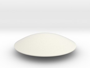 Flying Saucer Miniature 1 in White Natural Versatile Plastic